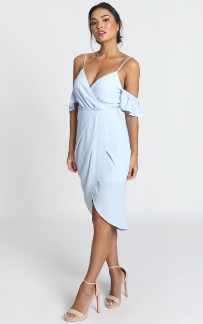 A Fair Go Dress in powder blue - 14 (XL), Blue, hi-res image number null