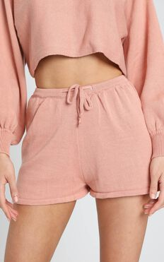 Hartley Knitted Shorts in Rose