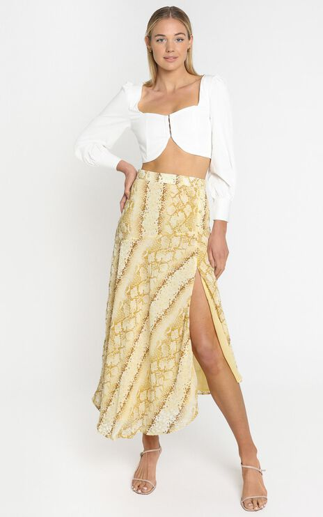 Lulu & Rose - Cali Skirt in Snake Print