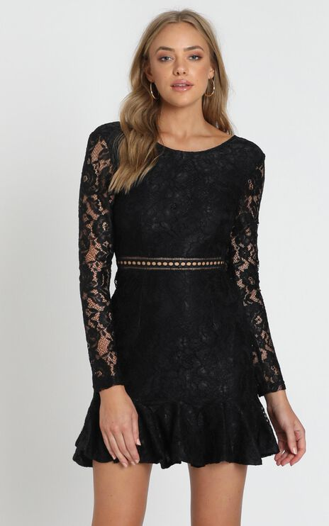I Belong Dress In Black Lace