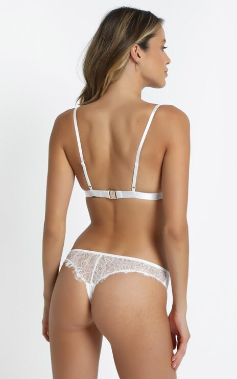 Kat The Label - Virtue Thong in White Lace