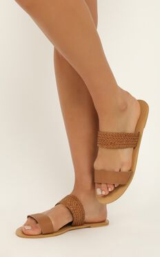 Billini - Antigua Slides In Tan Woven