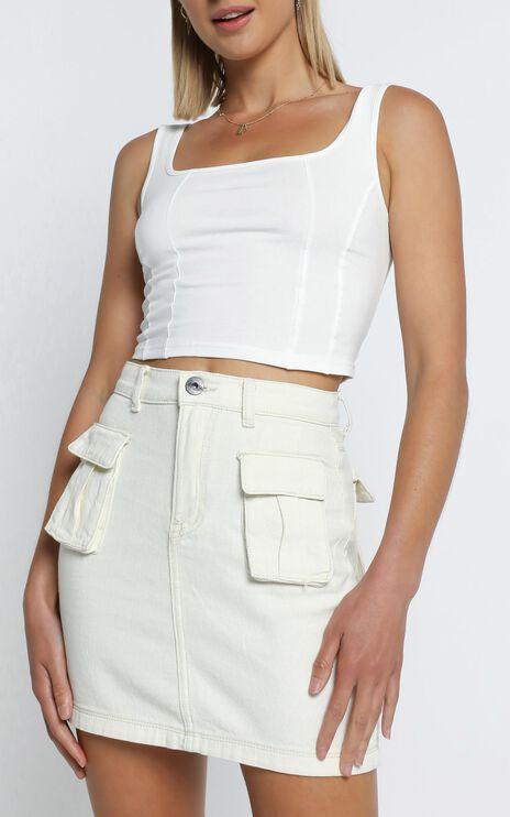 Mendez Skirt in Ecru