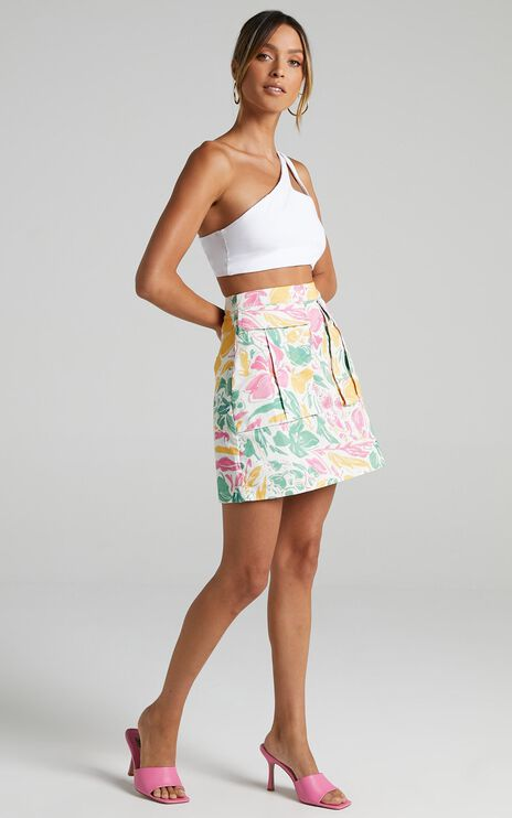 Jeyna Skirt in Electric Floral