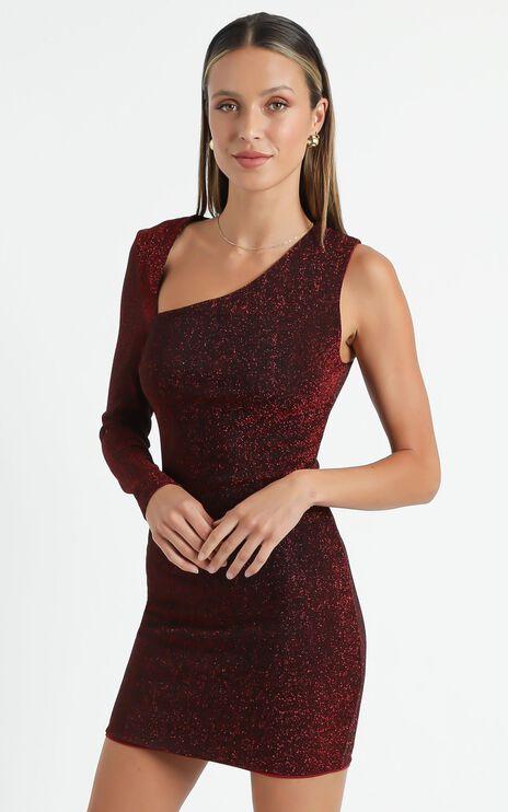 Dasha Dress in Wine Lurex