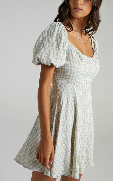Gloin Dress in Sage Check