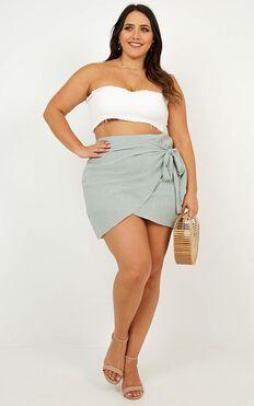 Not Happening Skirt In Sage