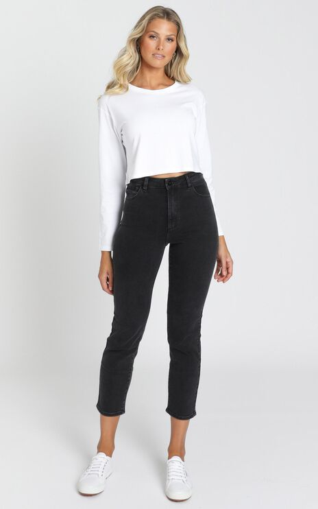 Abrand - A '94 High Slim Jeans in 90210 Black