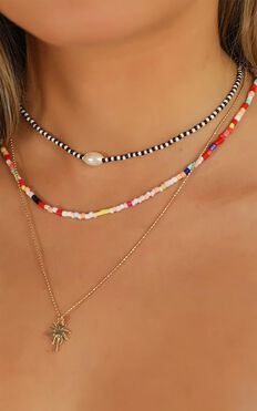 These Are The Days Necklace In Multi