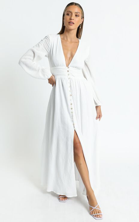 Charlie Holiday - Halcyon Dress in White