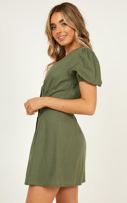 Need And More Dress In khaki linen look - 18 (XXXL), Khaki, hi-res image number null