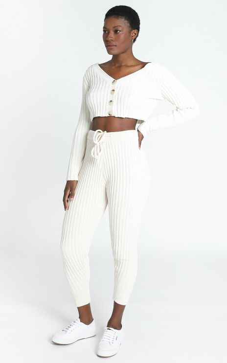 Becka Knit Pants in Cream