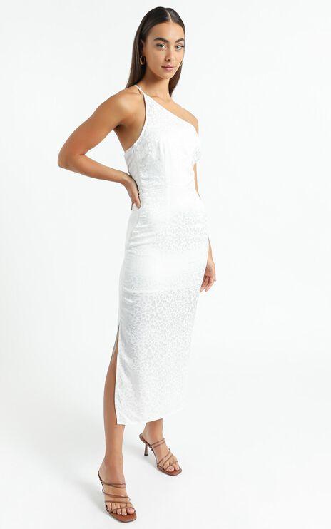 Rina Midi Dress in White