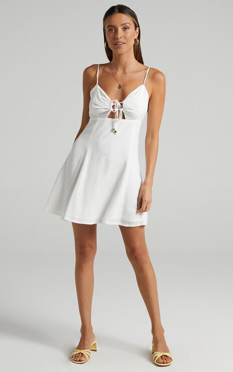 Nephele Dress in White