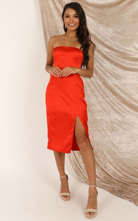 Darling Please Dress In Tangerine Satin
