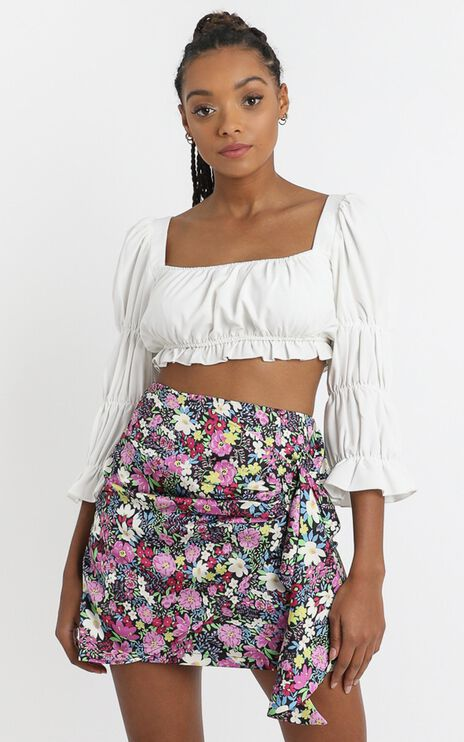 Becky Mini Skirt in Forest Floral