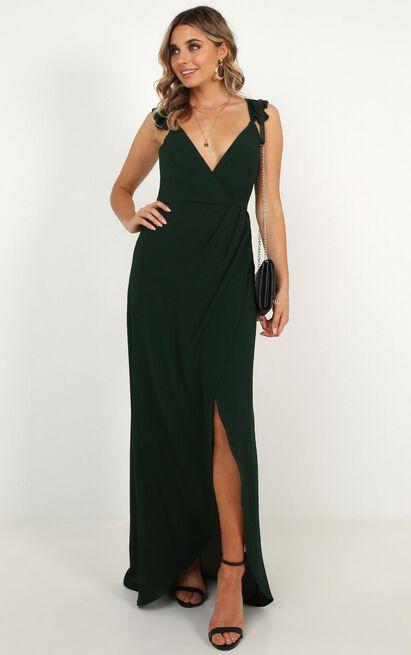 Trust Nobody Dress In Emerald - 20 (XXXXL), Green, hi-res image number null