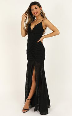 Play Nice Maxi Dress In Black
