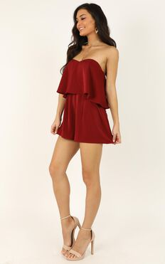 Your Smile Is Like A Breath Of Spring Playsuit In Wine
