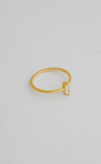 SAINT VALENTINE - BAGUETTE RING in Gold
