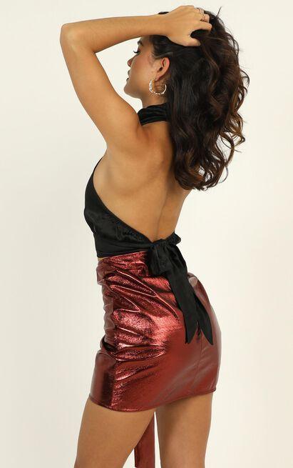 Lioness - Adjust Your Focus Skirt In Rust - 12 (L), Rust, hi-res image number null