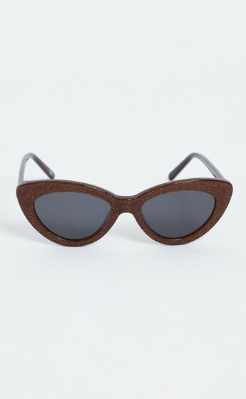 Luv Lou - The Harley Sunglasses in Glitter Brown