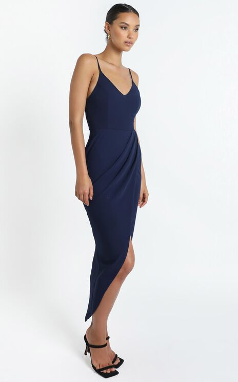 Lucky Day Maxi Dress in Navy