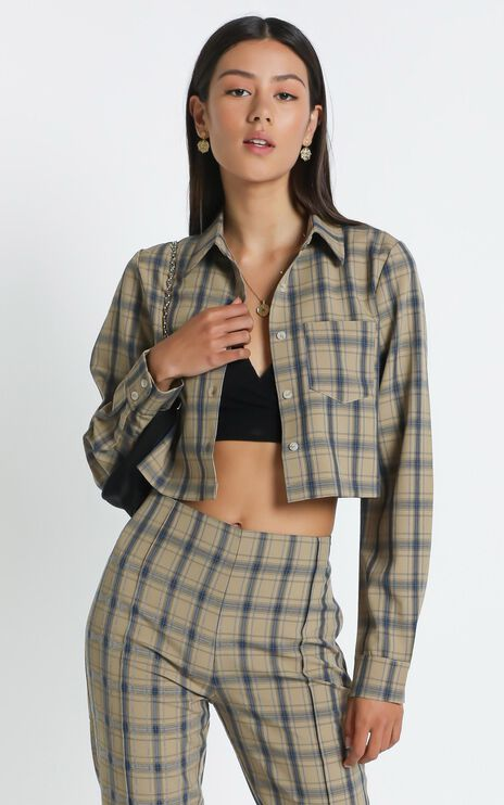 Gwenyth Shirt in Mocha Check
