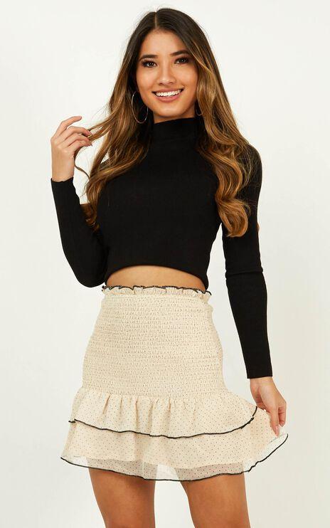 Untold Secret Skirt In Cream Spot