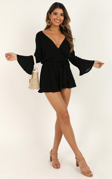 Sunday Breeze Playsuit In Black