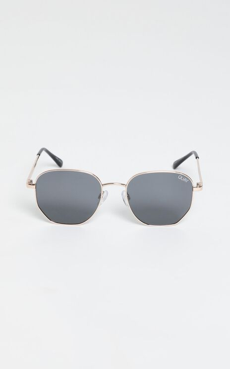 Quay - Big Time Sunglasses In Gold