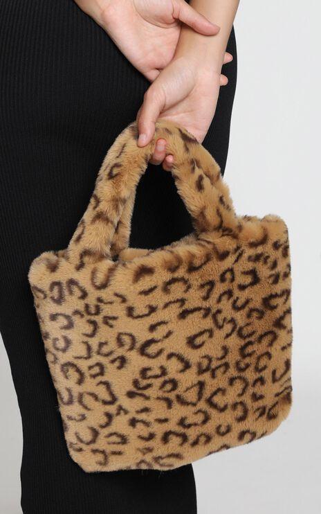 Cool Chic Cheetah Furry Bag In Tan