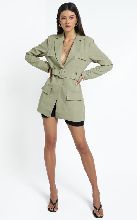Lioness - Steinway Mini Dress in Sage