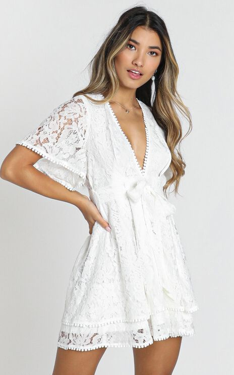 Do You Miss Me Dress In White Lace