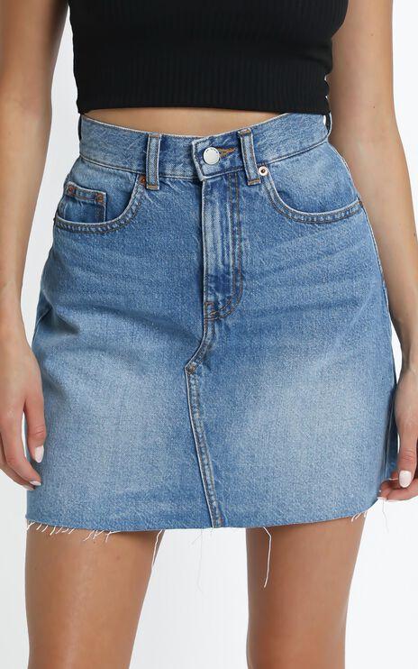 Dr Denim - Echo Denim Skirt in Empress Blue