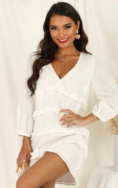 Sweetest Cheer Dress in white