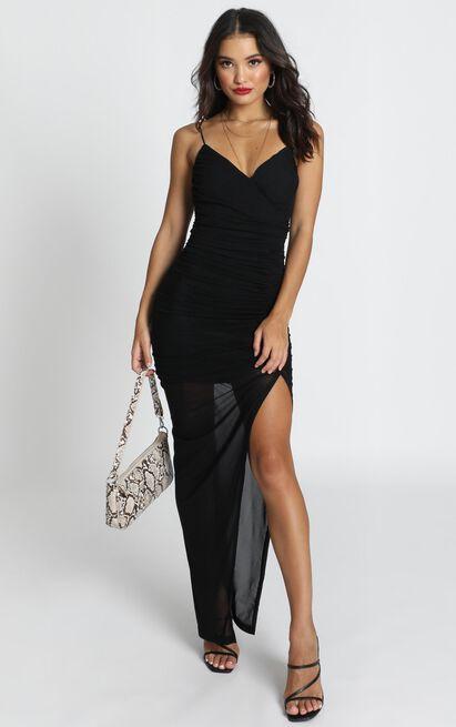 Turn Back Dress In Black - 16 (XXL), Black, hi-res image number null