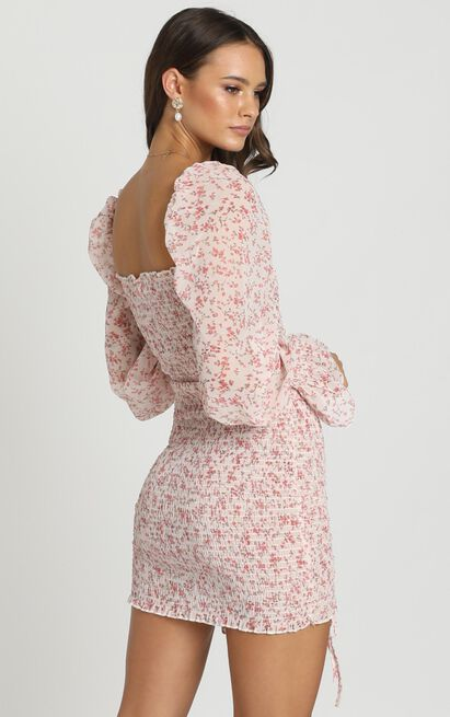 Another Voice dress in pink floral - 6 (XS), Pink, hi-res image number null