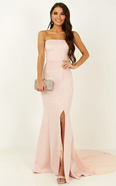 Always Will Love You Dress In Blush