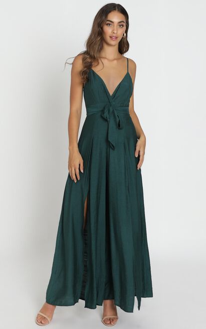 Written In History Jumpsuit in forest green - 6 (XS), Green, hi-res image number null