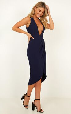 Camera Ready Dress In Navy