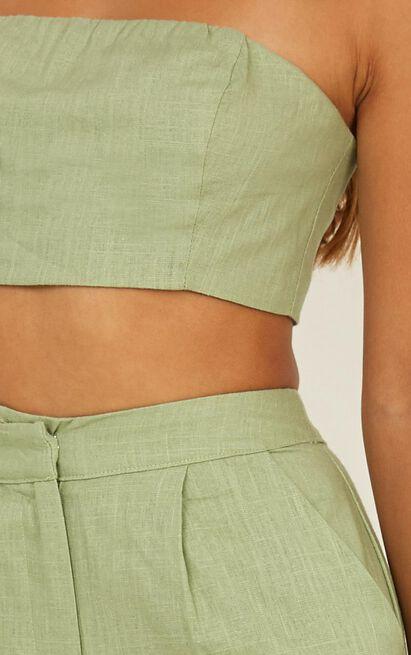 North Street Two Piece Set In sage linen look - 18 (XXXL), Sage, hi-res image number null