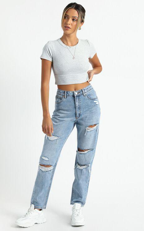 Abrand - A 94 High Slim Jean in Rock Star