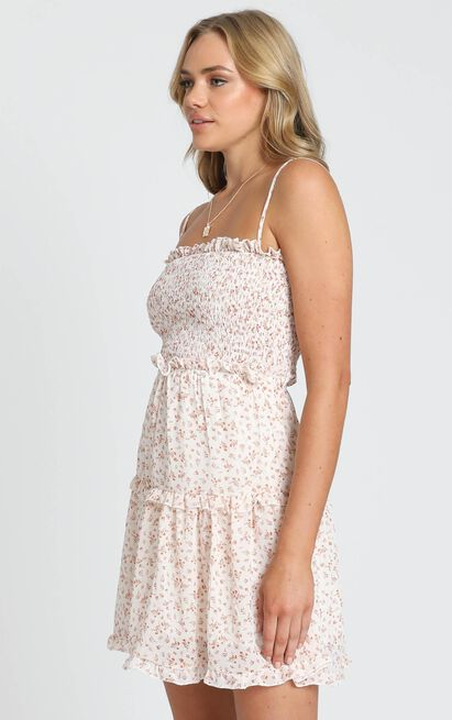 Selling Me Sympathy Dress in cream floral - 8 (S), Cream, hi-res image number null