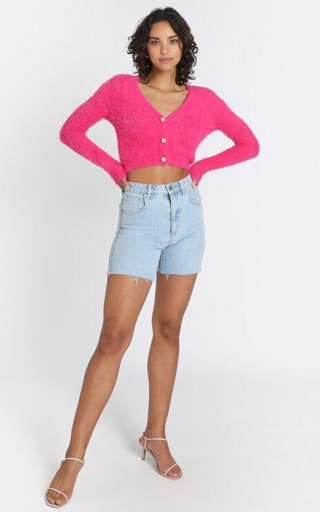 Vegas Baby Cardigan in Hot Pink
