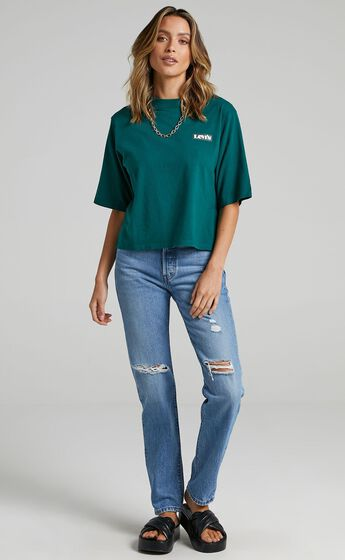 Levis - Heavyweight Box Logo Tee in Forest