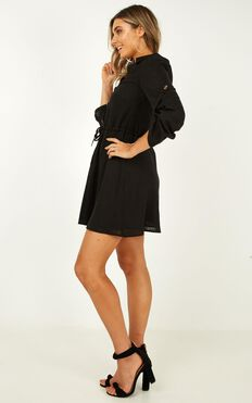 Stick With It Dress In Black