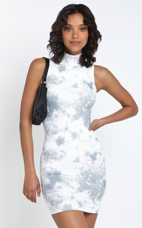 Hudson Dress in Charcoal Tie Dye