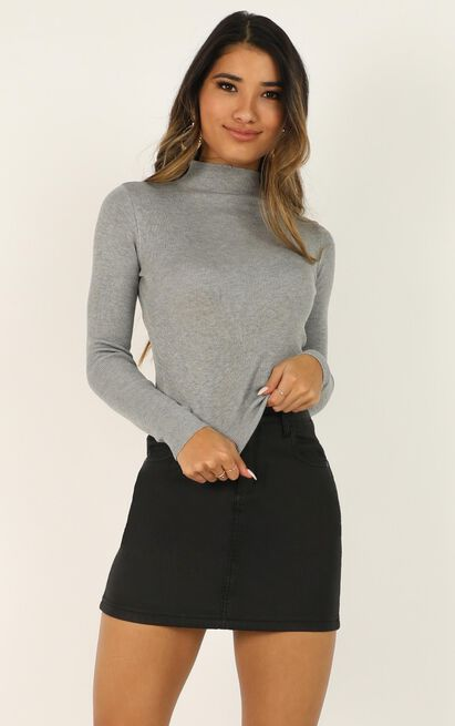 Lust for Life Knit Top in grey marle - 8 (S), Grey, hi-res image number null