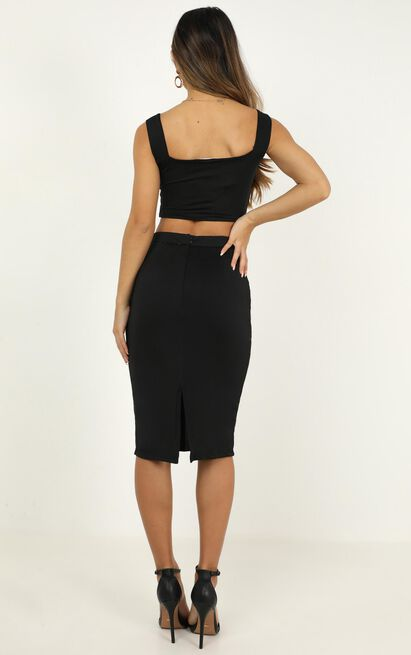 Start Feeling Two Piece Set In Black - 20 (XXXXL), Black, hi-res image number null